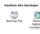 Gestion  Backup FTP OVH