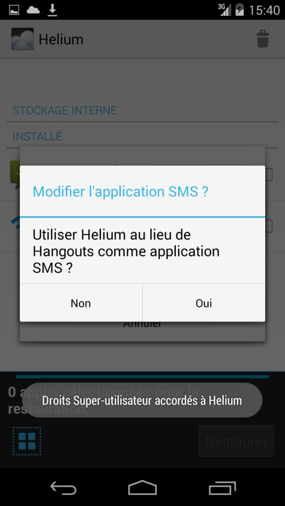 Helium SMS